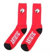 Image of Artistic Boogie Socks - Red/Black