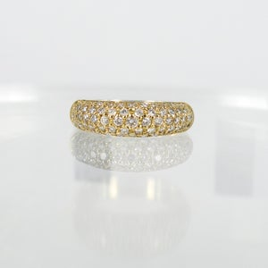Image of PJ4819 18ct yellow gold pave diamond dress ring
