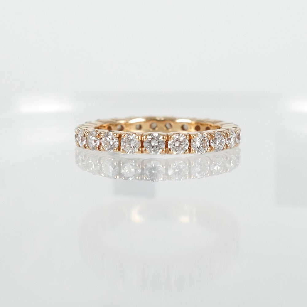 Image of PJ4465 18ct Rose gold full set diamond band