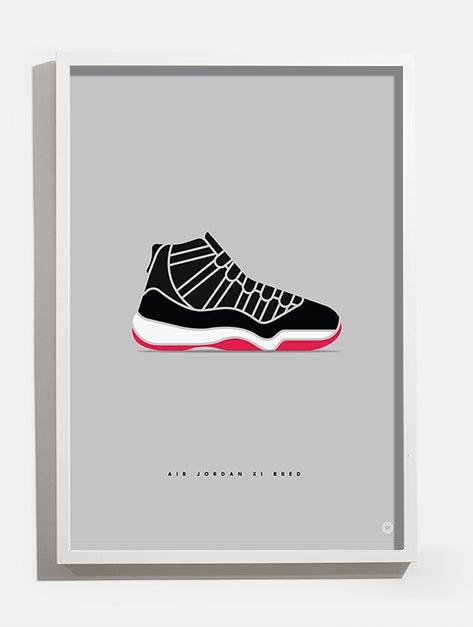 Image of Air Jordan XI 'Bred' print