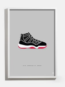 Image of Air Jordan XI 'Bred' print