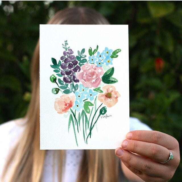 Image of Custom floral watercolor
