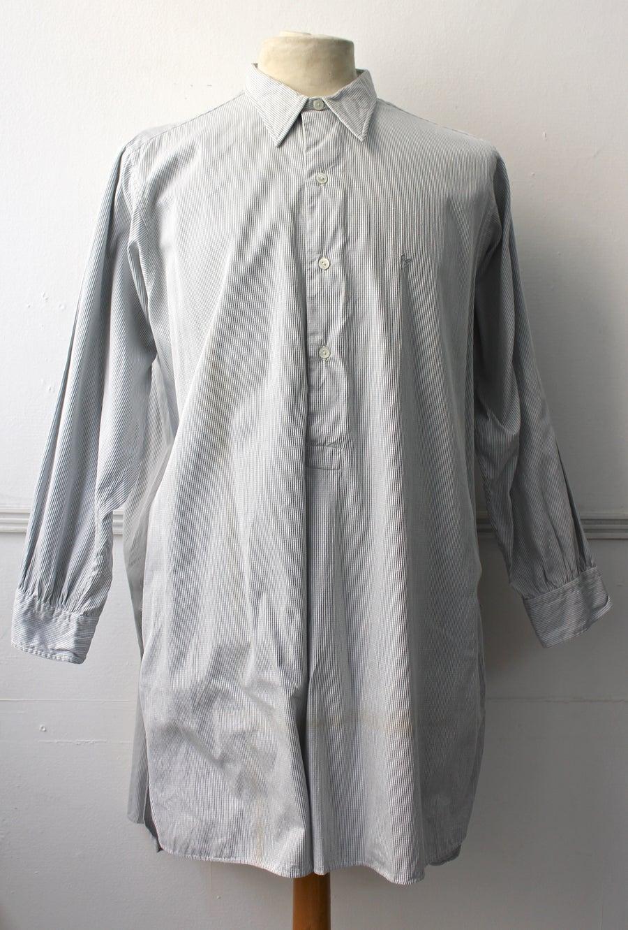"Image of 1940'S INITIAL ""A.P"" SHIRT フレンチグランパシャツ"