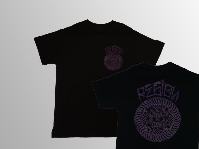 Image of Spiral Tee - Black/Purple