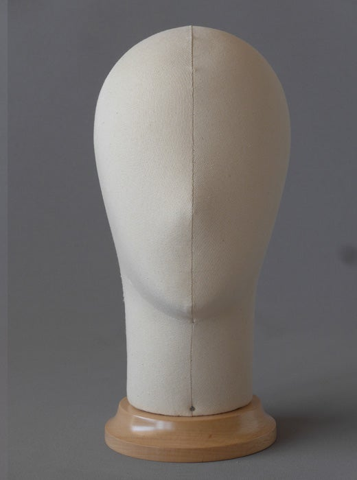 Image of Poupee Millinery Head / Canvas hat form