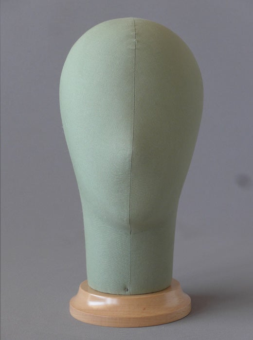 Image of Poupee Millinery Head (Green) /Canvas Hat Form