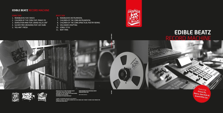 Image of Edible Beatz - Record Machine (Black Vinyl)