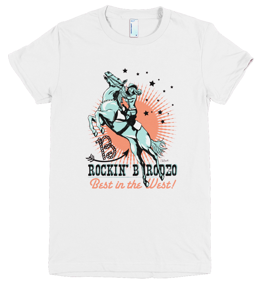 Image of Rockin' B Rodeo Vintage Cowgirl Tee