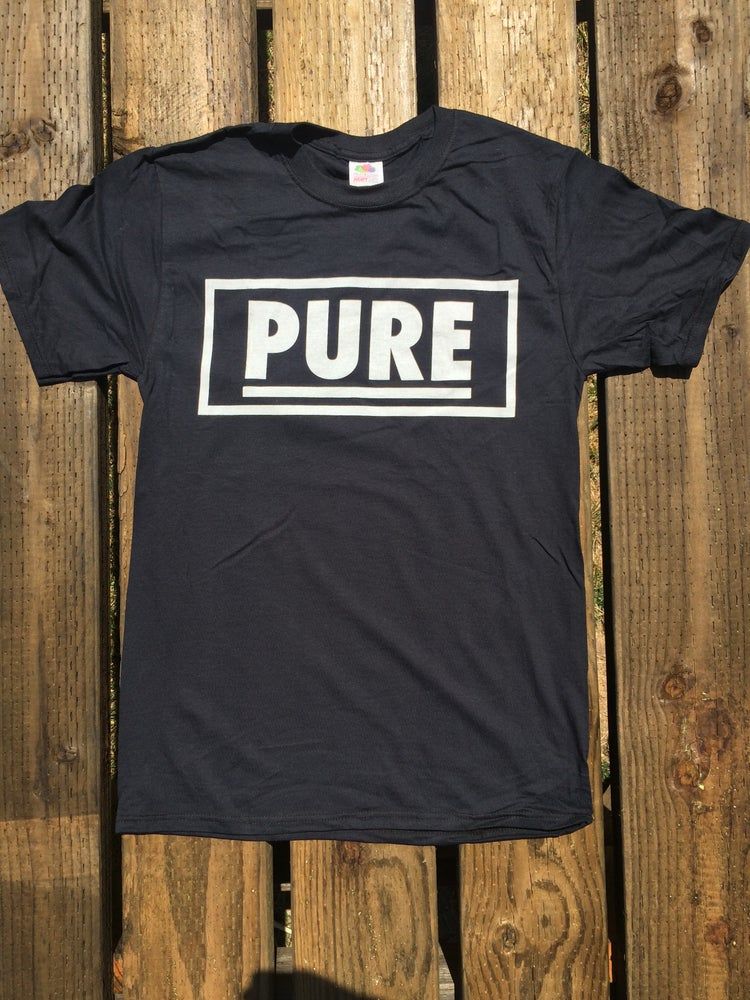 "Image of Pure - ""Bay Area Straight Edge"" Black shirt"