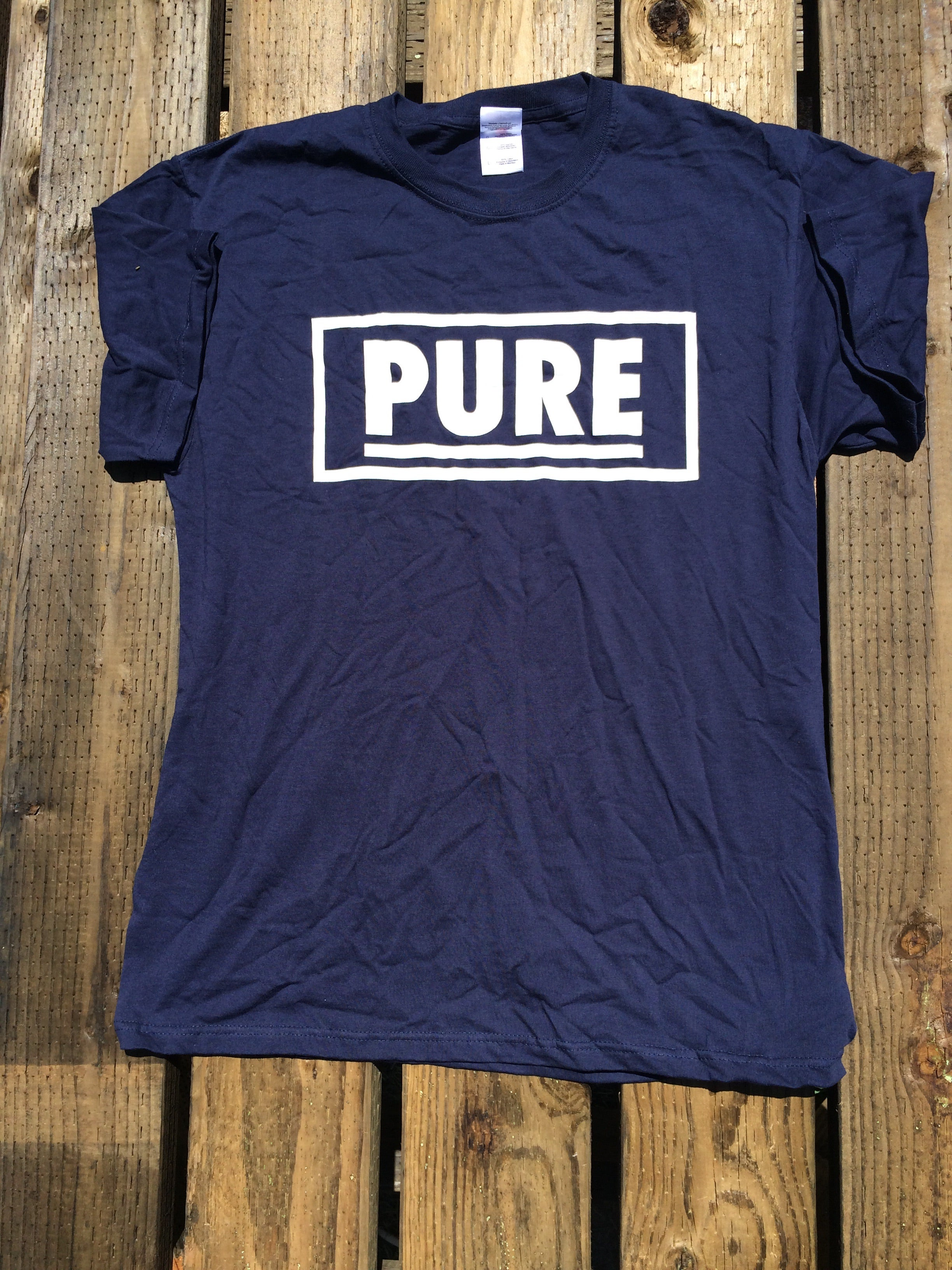 "Pure - ""Bay Area Straight Edge"" Navy shirt / PURE XXX"