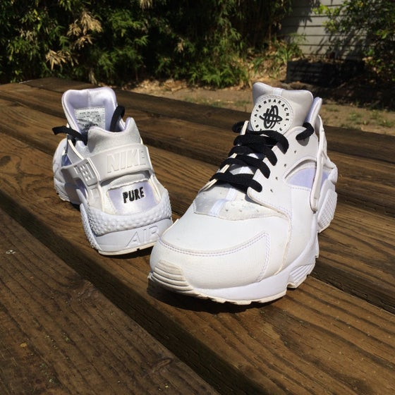 "Image of Pure - ""Custom Air Huarache"" shoes"