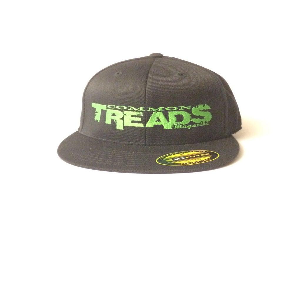 Image of Common Treads Magazine Hat - Black/Green - Flat Bill