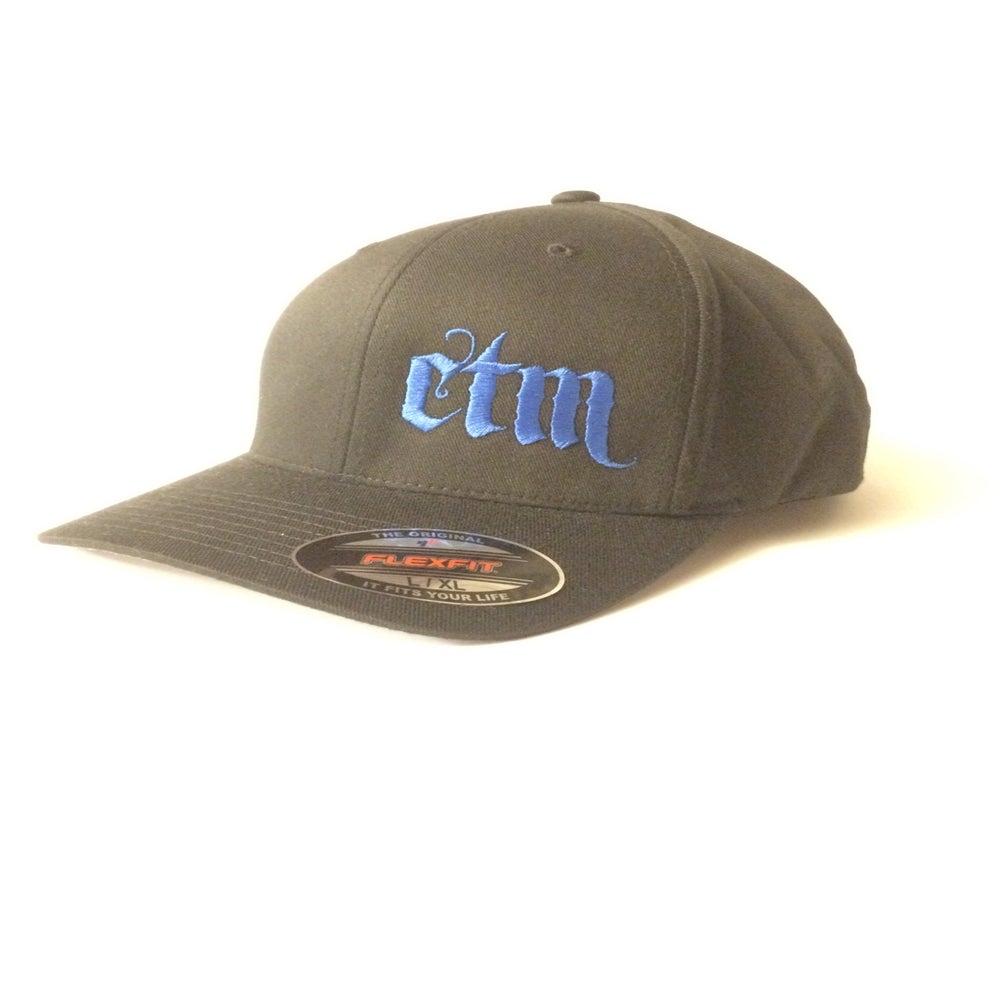 Image of CTM Hat - Black/Blue - Curved Bill