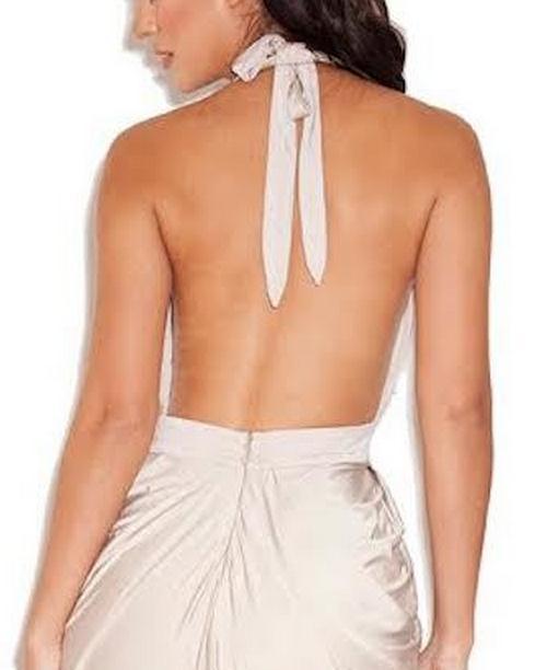 Image of HOT DEEP V LONG SEXY FORK DRESS