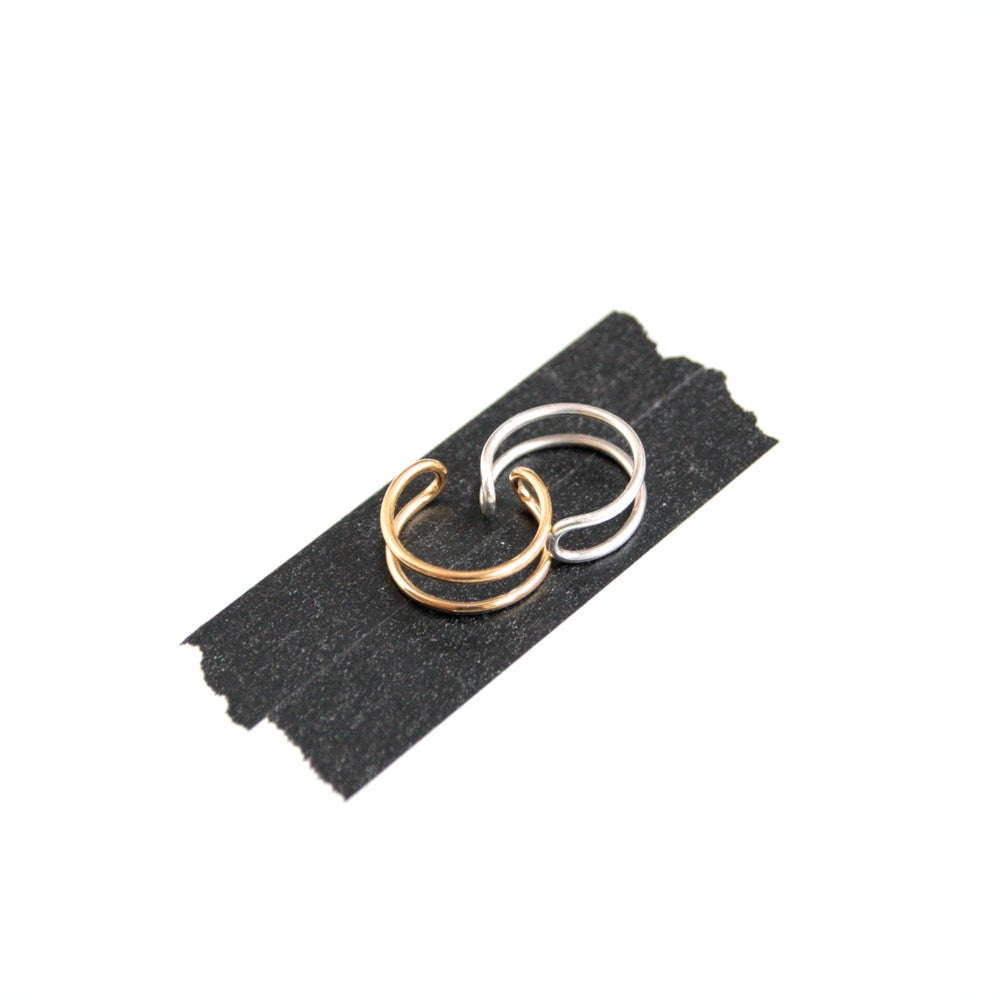 Image of Adjustable Silver/ Gold plated Ring