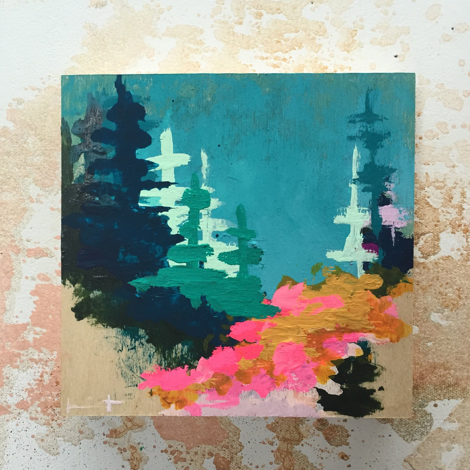 Image of Tiny Painting No. 23 (sky, mustard, opera)