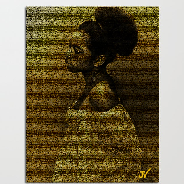 "Image of ""Black Queen"" Canvas"