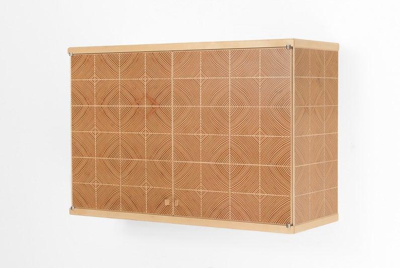Image of End Grain Parquet Cabinet