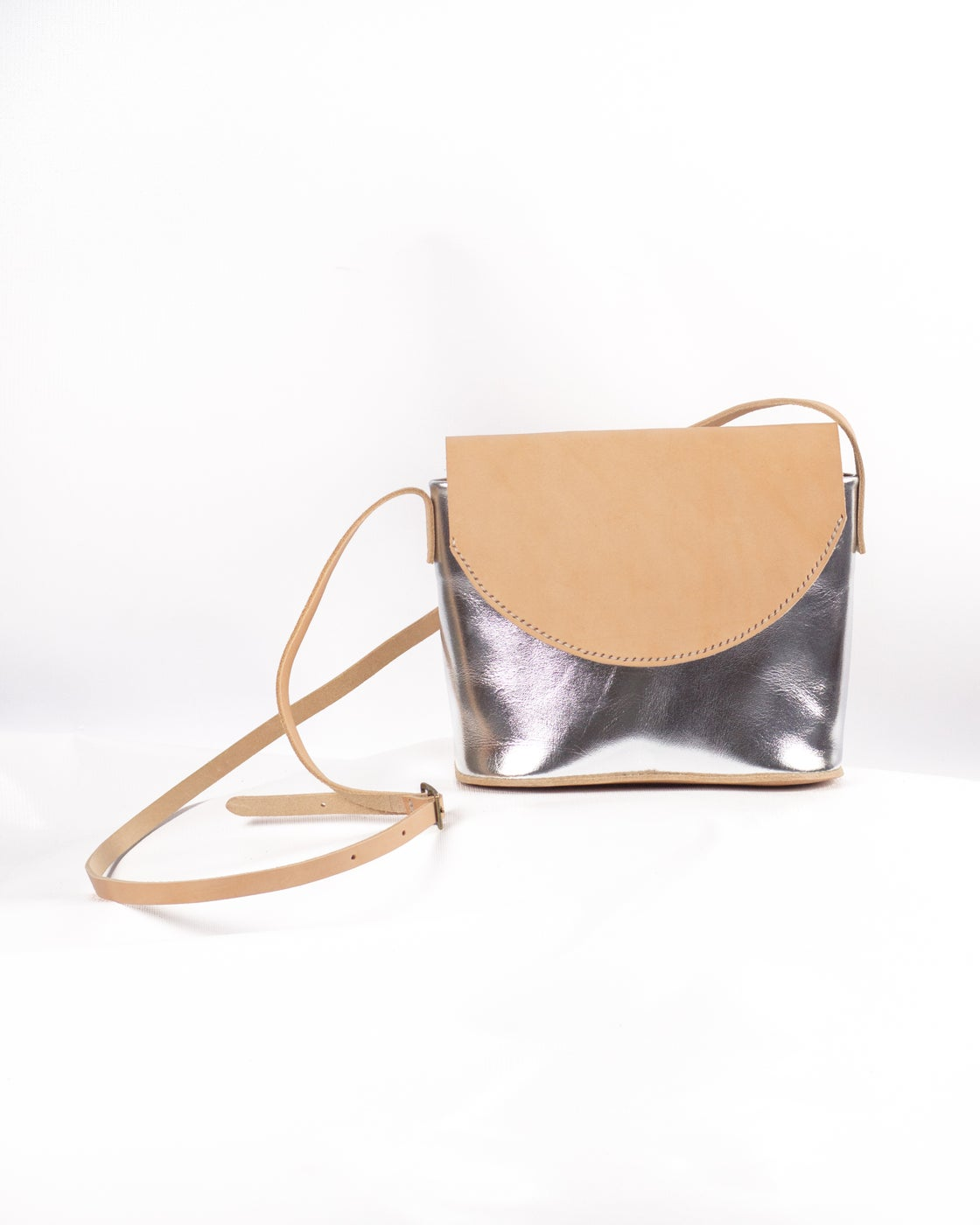 Image of Flap Crossbody in Silver