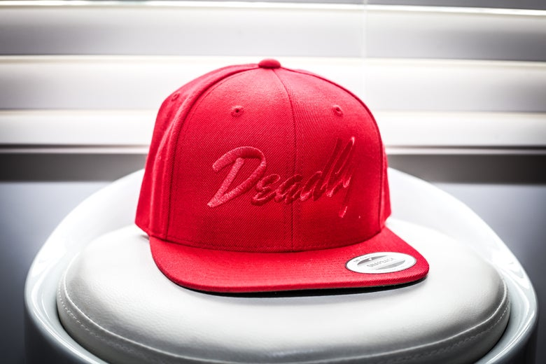 Image of Deadly SnapBack - (Red/Red Font)
