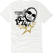 """Image of KY Raised """"Legends Series"""" Static Major Tee in White / Blk / Gold"""