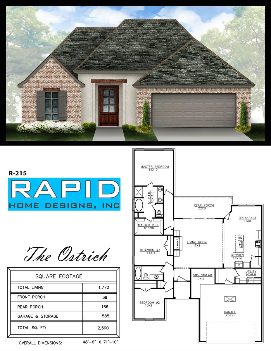 the ostrich 1770sf rapid home designs