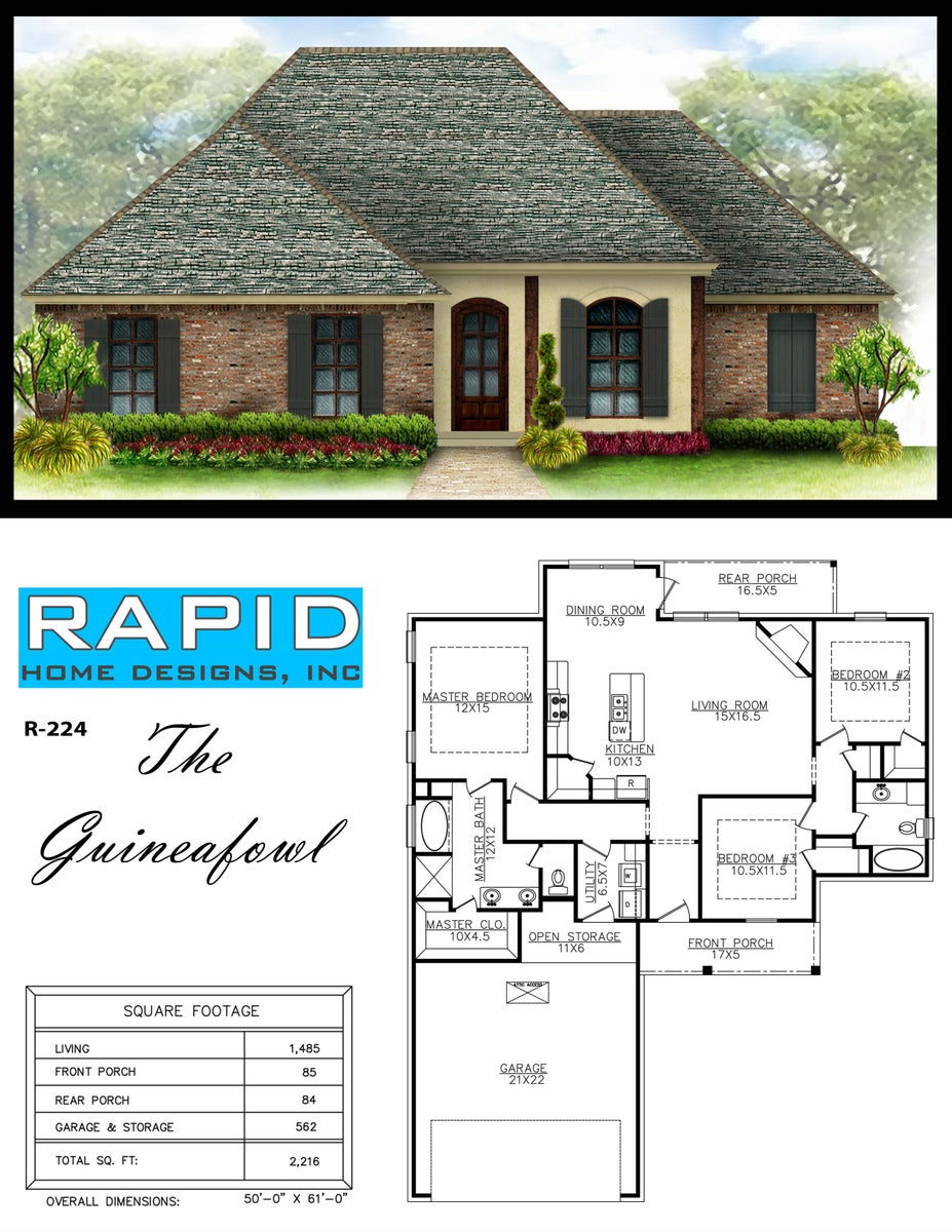 The guineafowl 1485sf rapid home designs for Rapid home designs