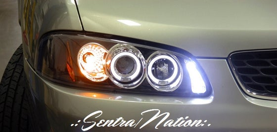Image of (B15) 00-03 SENTRA BLACK CCFL HALO STYLED HEADLIGHTS