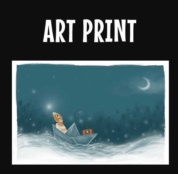 Marty Amp The Paper Boat Print Various Sizes Marty Mouse