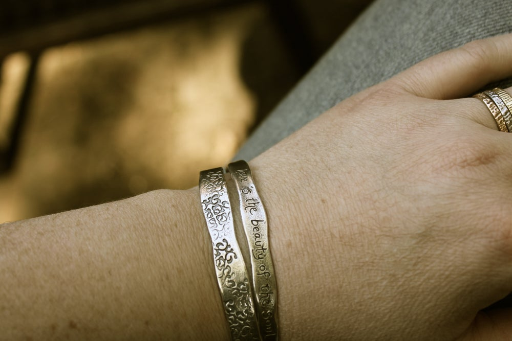 Image of sterling silver rumi quote cuff . out beyond cuff . Cuff-3