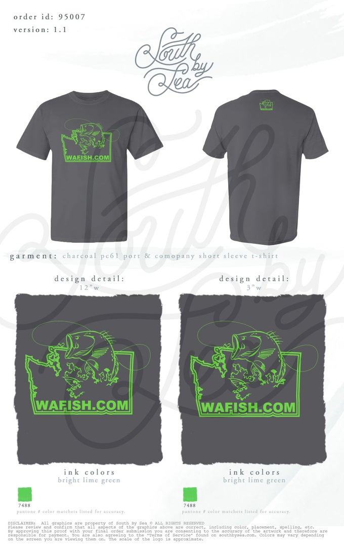 Image of Charcoal WAFISH T-Shirt