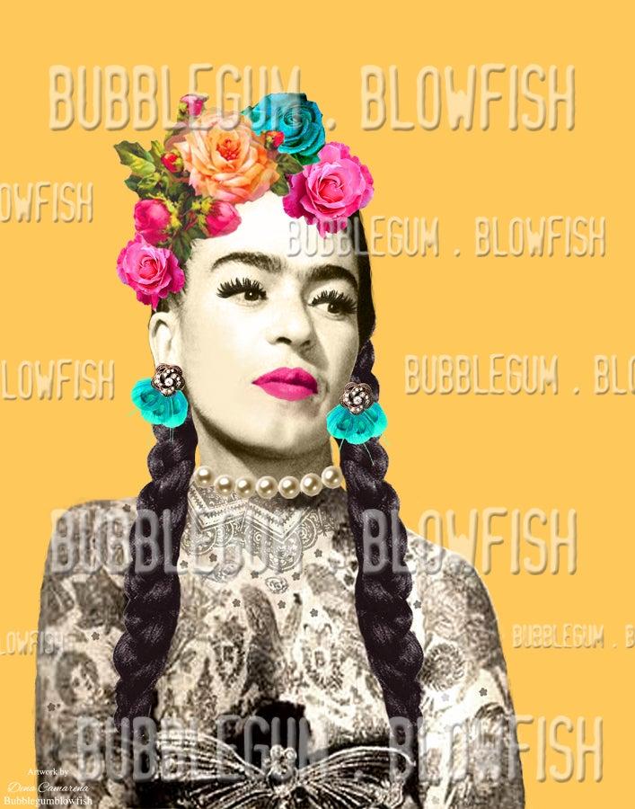 Image of frida Kahlo with tattoos Digital Art Download