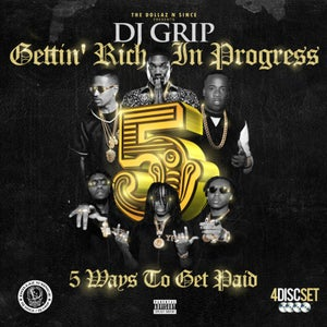 Image of DJ Grip - GET RICH IN PROGRESS  VOL.5 ( 4 DISC SET with DVD)