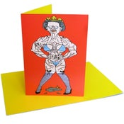 Image of Queen (greeting card)