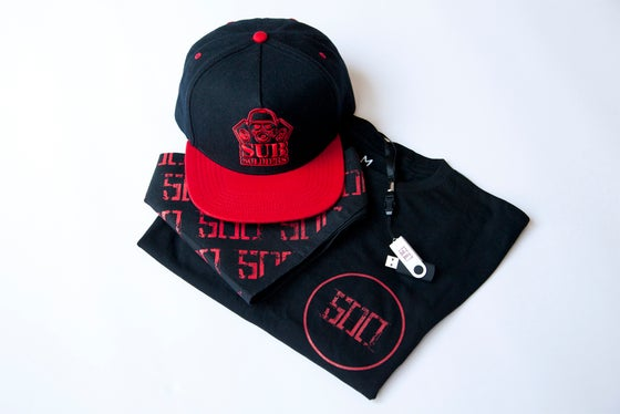 Image of '500' Snapback | USB | Bandana & Long Sleeve Tee combo