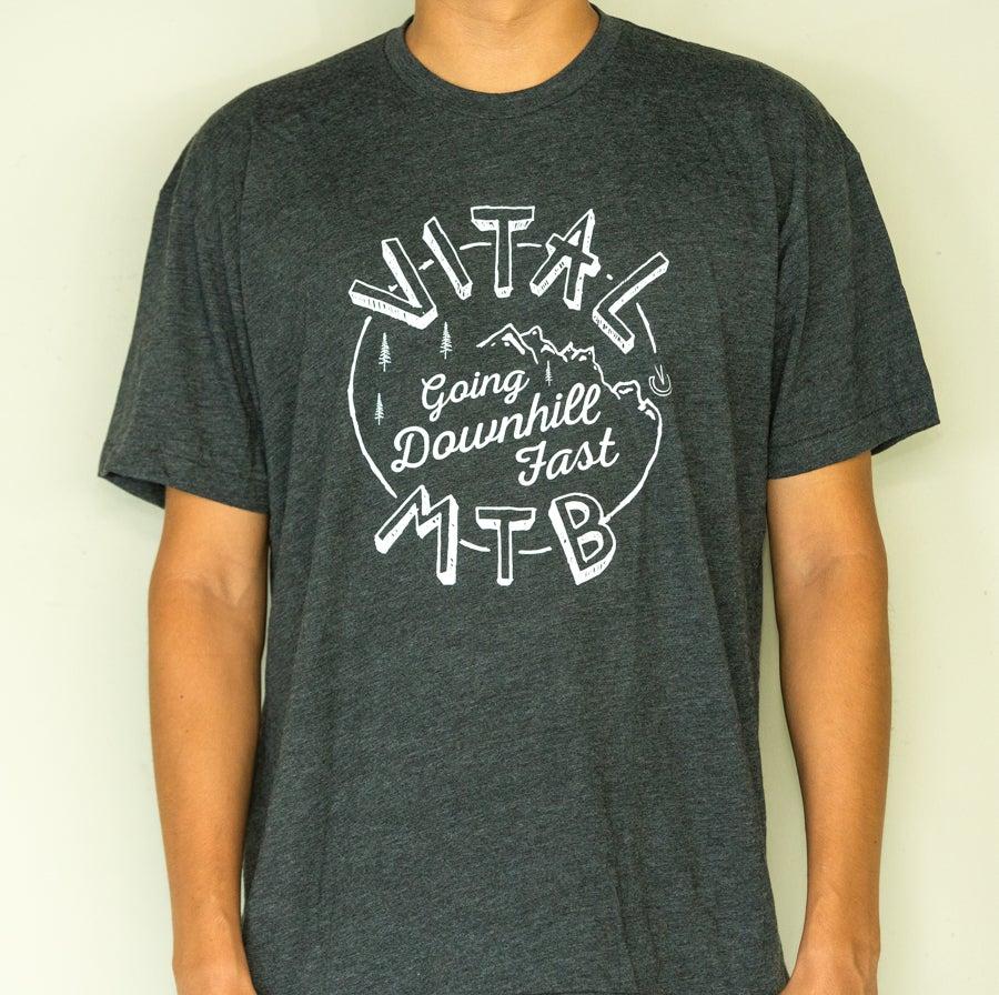 Image of Vital MTB DH Fast T-Shirt, Heather Black