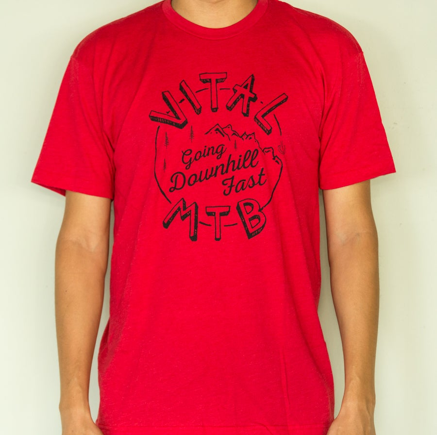 Image of Vital MTB DH Fast T-Shirt, Heather Red