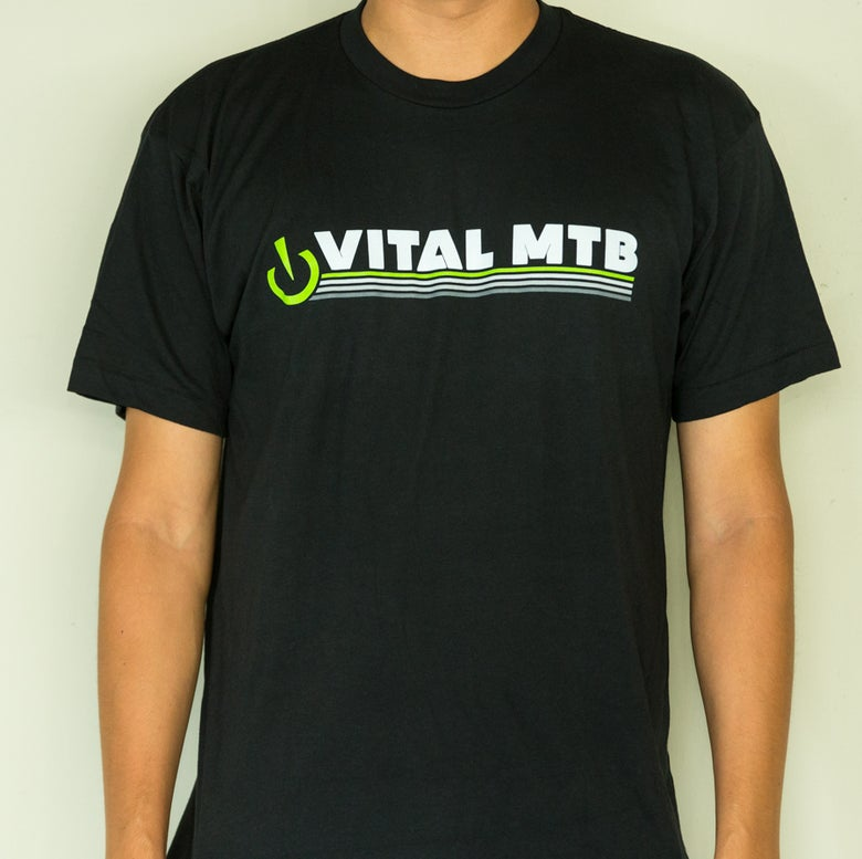 Image of Vital MTB Retro T-Shirt, Black