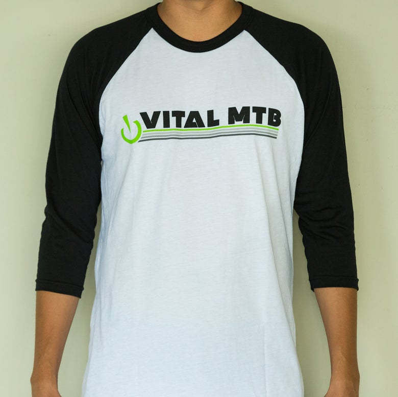 Image of Retro T-Shirt, White/Black