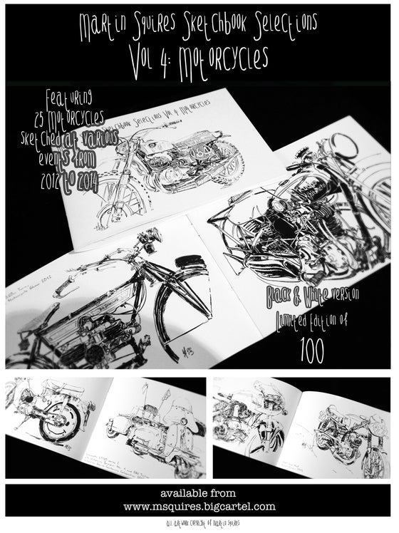Image of Sketchbook Selections Vol 4: Motorcycles