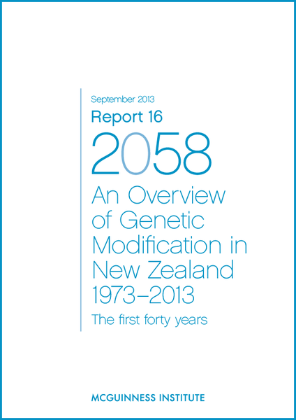 Image of 2013 Report 16 - An overview of Genetic Modification in NZ 1973-2013 and Appendices