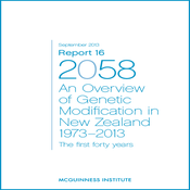 Image of Report 16 - An overview of Genetic Modification in NZ 1973-2013 and Appendices