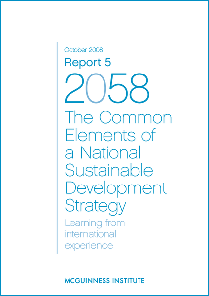 Image of Report 5 - The Common Elements of a National Sustainable Development Strategy