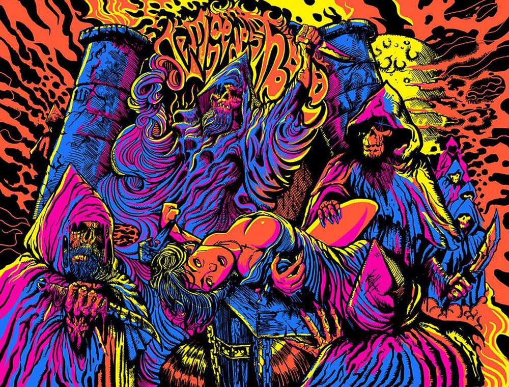 Image of TOMBS OF THE BLIND DEAD 18 x 24 Mindwarp Limited Edition Screen Print (LOW STOCK)
