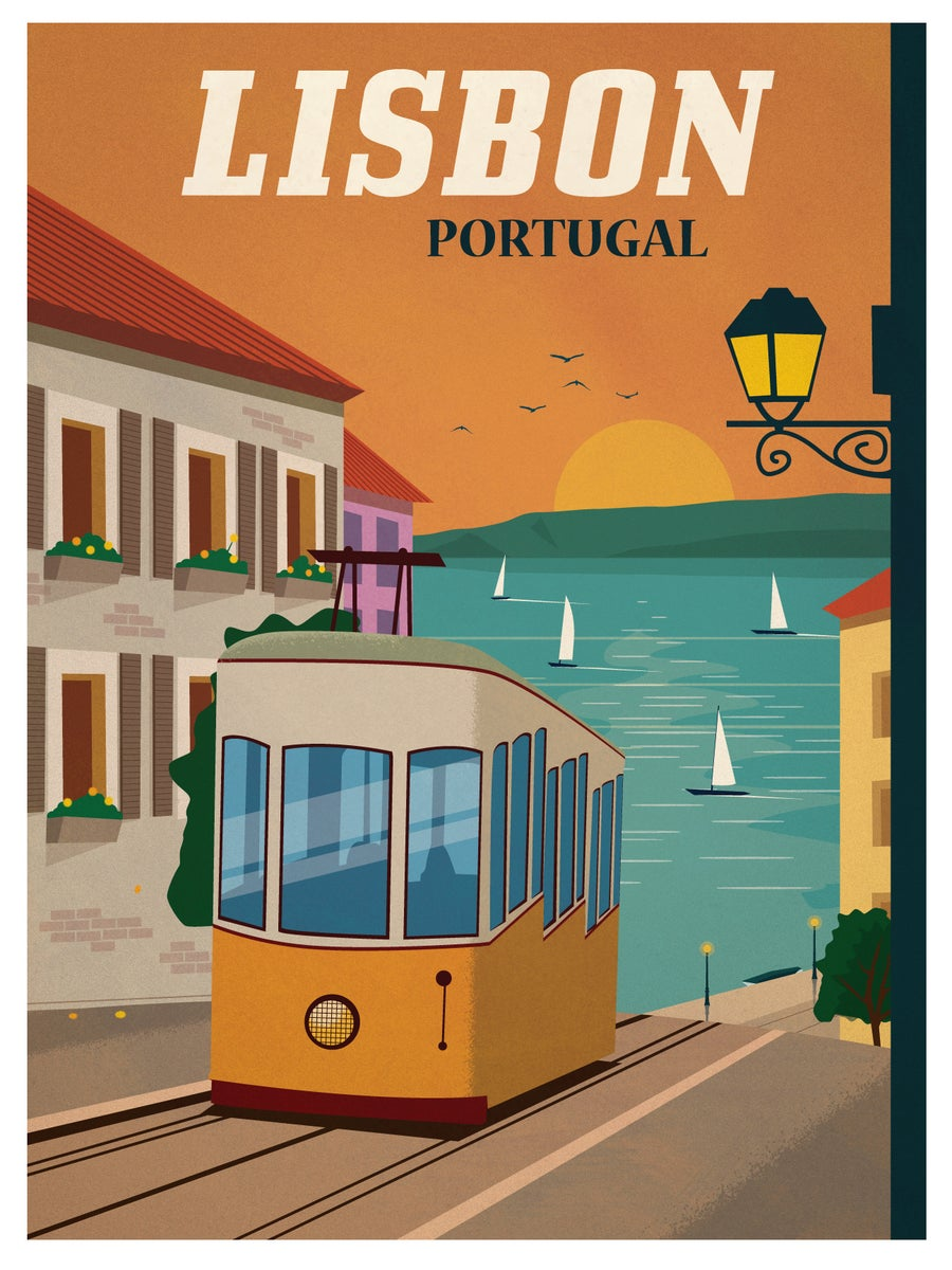 posters_IdeaStorm Studio Store — Vintage Lisbon Poster