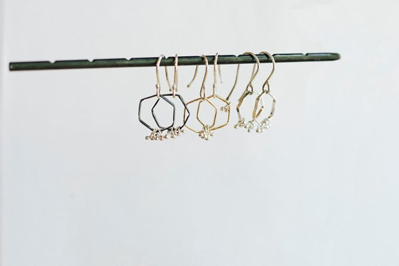 Image of Freya hex earrings