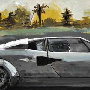 Countach Print - Robot Art by Matt Q. Spangler