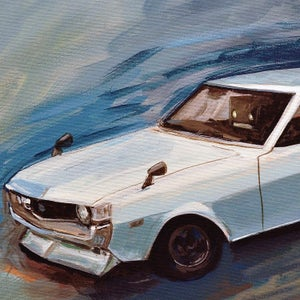 TA22 Toyota Celica Print - Robot Art by Matt Q. Spangler