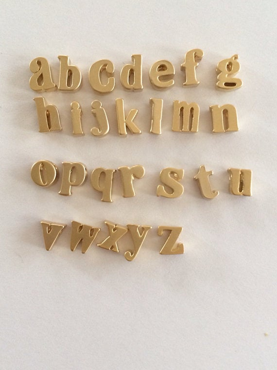 Image of Lower Case Initial Earrings