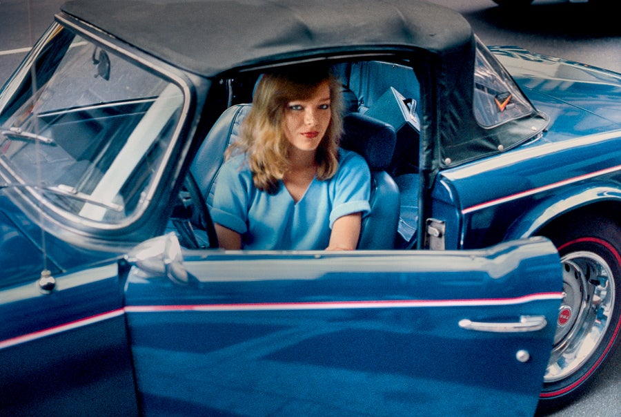Blonde in a blue convertible new york ny 1981 robertherman